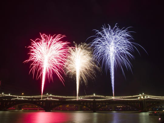 The fireworks show at Tempe Town Lake never fails to
