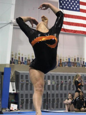 Northville's Mackenzie Willson competes in the floor exercise during a recent meet.