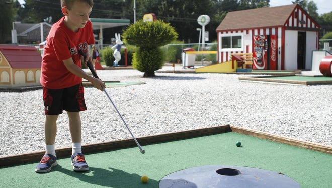 Get an old-fashioned burger and then play a round of mini golf at Red Rooster in Brewster.