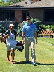 Arianna Barnes, a golf caddie who will be on scholarship
