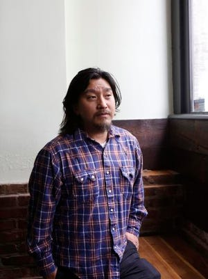 Chef Edward Lee of Milkwood Restaurant on Mian St. in Louisville.  March 18, 2015.