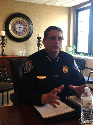 RPD Chief Michael Ciminelli at the D&C on Monday.