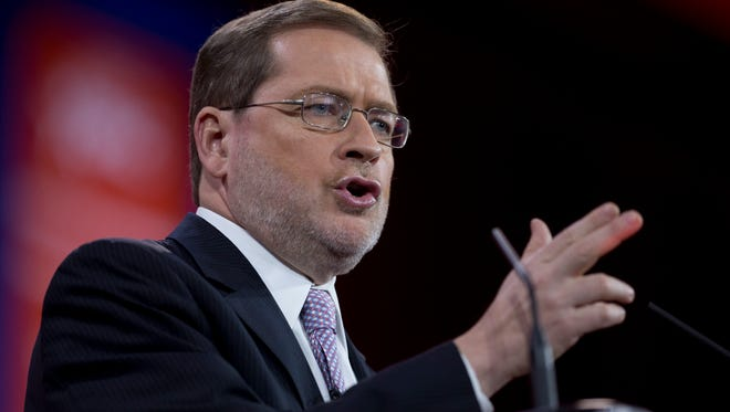 American for Tax Reform President Grover Norquist speaks during the Conservative Political Action Conference (CPAC) in National Harbor, Md., Thursday, Feb. 26, 2015.