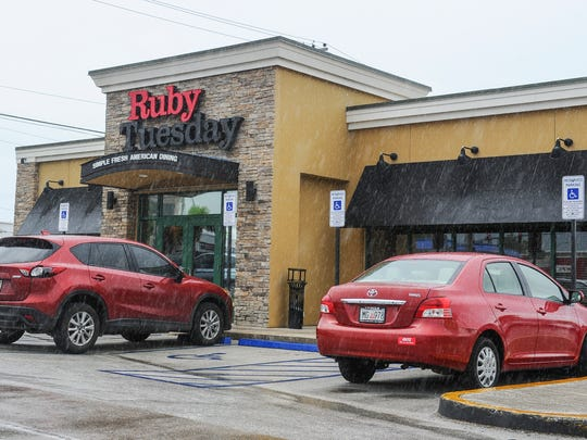 The Ruby Tuesday restaurant in Tamuning photographed on a very rainy Aug. 5, 2015.