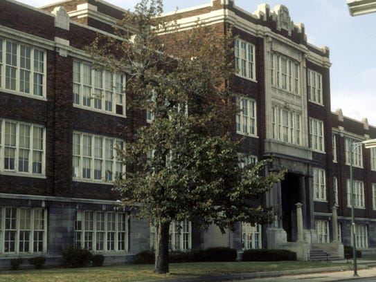 The old Central High School in downtown Muncie.