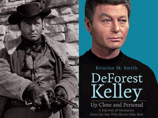 DeForest Kelley as cowboy villian and cover of Kris Smith's book