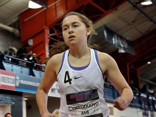 Carmel's Angela Castronuovo runs leg of girls 4x mile