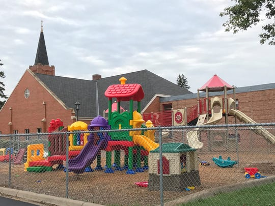A playground is across the street from Louis Brouillard's Pine City home.