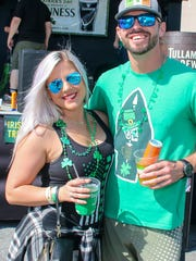 People enjoy St. Patrick's Day on Pensacola Beach on Saturday, March 17, 2018.