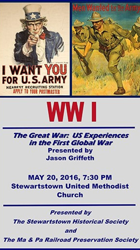 World War I is an unsung war around York, Pa., where many memorials relate to World War II. So here's an opportunity to learn more about the Great War.