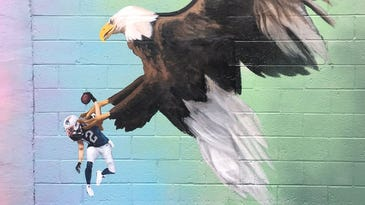 Philadelphia mural of a bald eagle clutching Tom Brady could become permanent