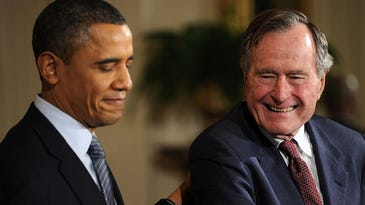 George H.W. Bush ahead of Obama in bracket challenge