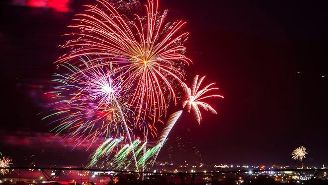Cedar City firework show, July 4, 2016.