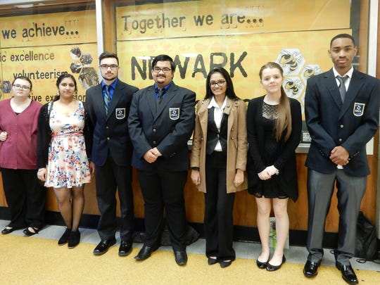 DECA members from Newark High School attended the DECA State Career Development Conference in Dover.