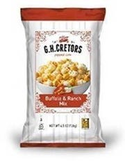 G. H. Cretors Buffalo and Ranch Mix popcorn.