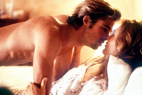 Brad Pitt and Geena Davis in
