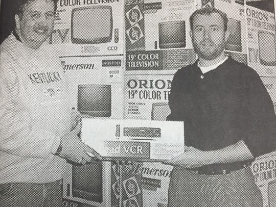 Larry Adamson of Morganfield, left, is shown with Hal