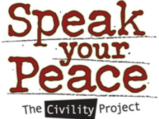 The Speak Your Peace project asks people to use nine basic principles of respect when interacting with others