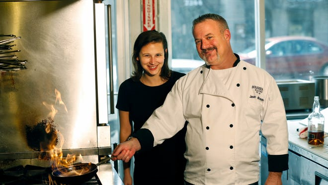 Bailey Loosemore and Jason Brauner of Bourbons Bistro. Feb. 23, 2016