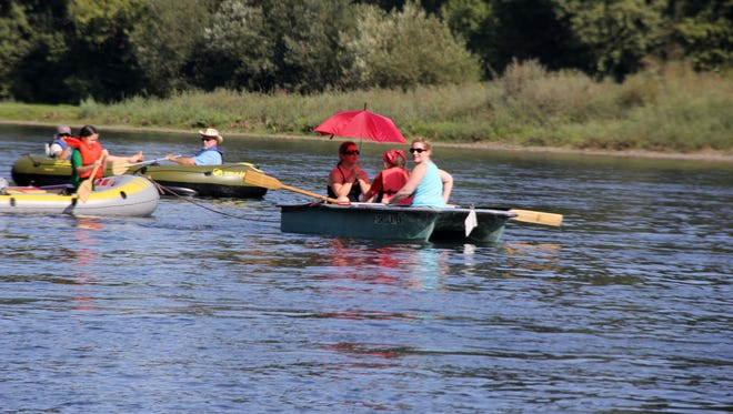 Take in a day of floating during the Great Willamette River Raft Race Saturday, Aug. 13.