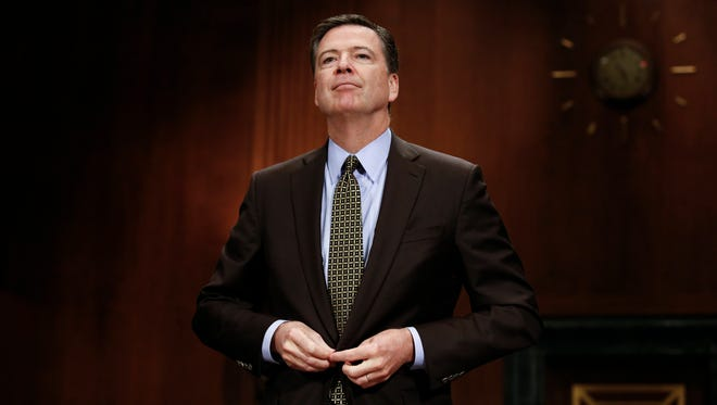 James Comey testifies before the Senate Judiciary Committee on May 3, 2017, on Capitol Hill.
