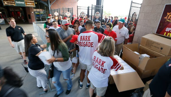 Chihuahuas fans came early and stood in line to be