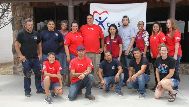 Lowe's Home Improvement, DeLeon Construction LLC and Castor Flooring from Midland, Texas, worked on the Lowe's Heroes Project all week. Renovations include installing carpet, cabinets, counter tops, doors and painting.