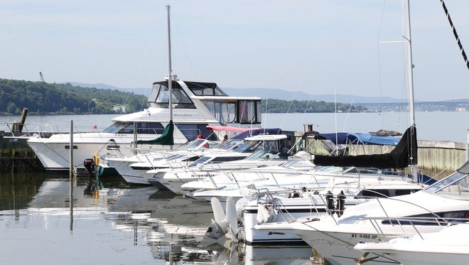 Boats docked at White's Marina in New Hamburg on June 29, 2018.