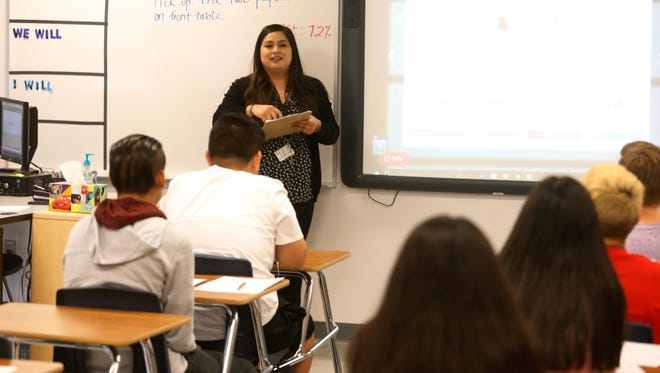 From the opening day of school, students in SISD are reminded how important the STAAR test is and begin preparing for it. Pebble Hills High School teacher Melissa Escobar, who teaches Algebra 1, stresses the importance of the STAAR test to her class.