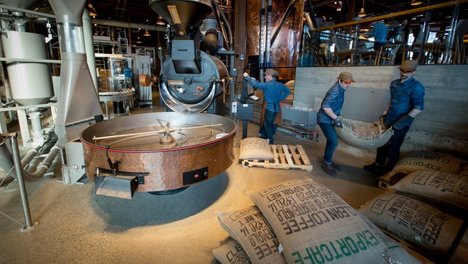 The new Starbucks Roastery store in Seattle is where coffee isn't just sold, but also roasted, bagged and shipped around the world.
