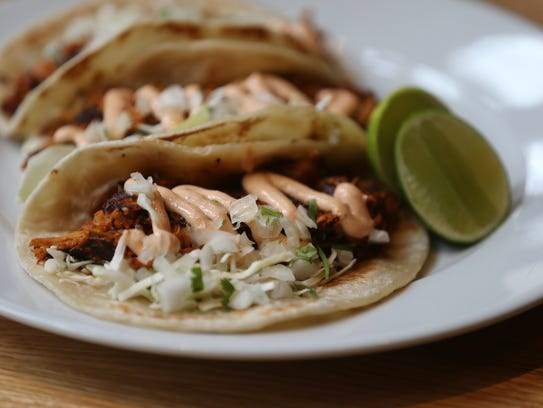 The chicken tinga tacos at Malo on Wednesday, May 3,