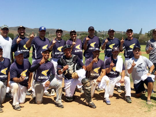 Team Easton won the 2016 NABA Ventura County 35+ Wood Bat League Championship.