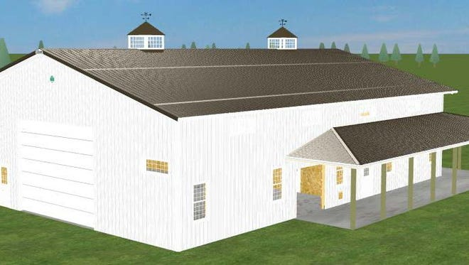 Pictured above is a 3D rendering of Cleary's 107,000th building sold. The building was sold to Clients Julie King and Gerard St. Hilaire in Custer, WI.