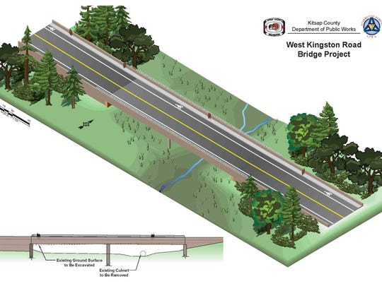 Rendering shows what West Kingston Road will look like after a new bridge is built.