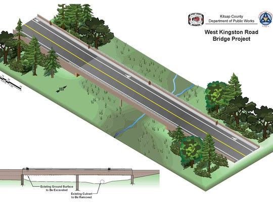 A rendering of what the West Kingston Road Bridge will
