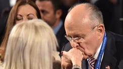 Former Mayor of New York City Rudy Giuliani kisses