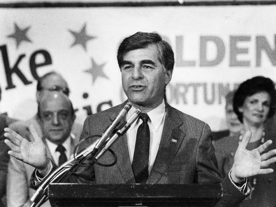 Mike Dukakis, governor of Massachusetts, got the Democratic