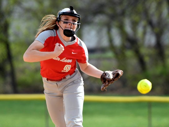Fair Lawn pitcher Emily Meerholz. Fair Lawn girls softball