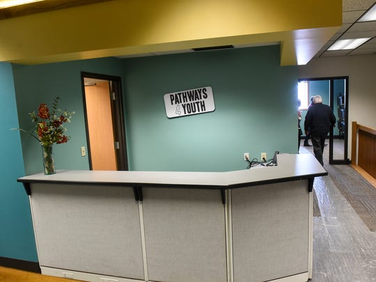 The entry area at Pathways 4 Youth, a homeless youth opportunity center, on March 9, 2018, in St. Cloud.