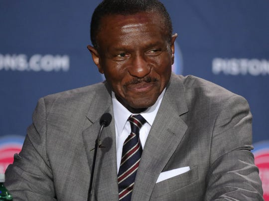 Dwane Casey takes questions Wednesday in Detroit.