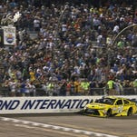 Matt Kenseth crosses the finish line to win the Sprint Cup Federated Auto Parts 400 at Richmond International Raceway. More importantly, he forged a tie with JGR teammate Kyle Busch and six-time champion Jimmie Johnson for the top seeds in the Chase for the Sprint Cup championship.