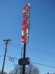 While it's been tradition for decades that one or more lighted letters are dark on the iconic Geets Diner sign, new owner Sandy Cannon said the sign has been repaired and every letter will glow with new LED lights.