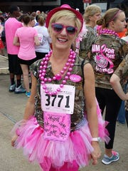 Pam Switzer participates in the 2014 Komen Central Louisiana Race for the Cure.