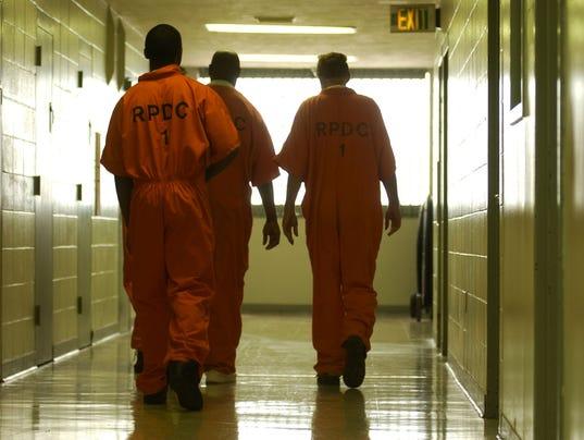 Rapides Parish Jail overcrowding on Tuesday June 19, 2007.