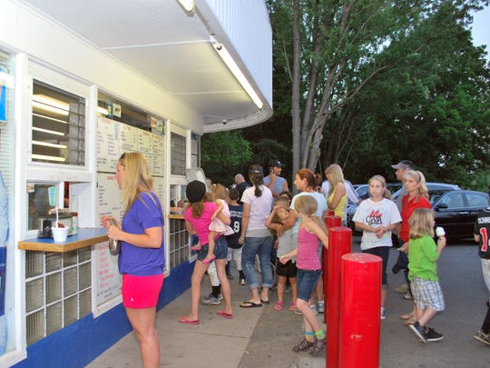 Summer evenings find the parking lot of Polar Cub in Whitehouse Station filled with cars and long lines of people ordering ice cream at the walk-up window.