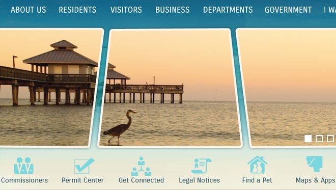 The redesigned Lee County website.