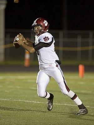 Asheville High quarterback Devon Davidson.