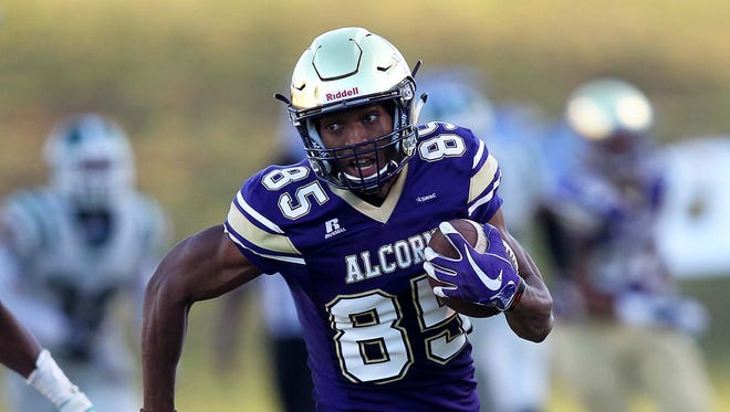 Alcorn State receiver Norlando Veals caught nine passes for 253 yards and three touchdowns in Saturday's win over Mississippi Valley State.