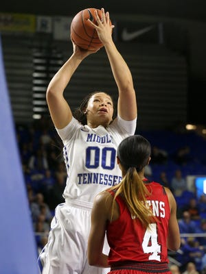 MTSU's Alex Johnson (00) was named to the All-Freshman team on Sunday.