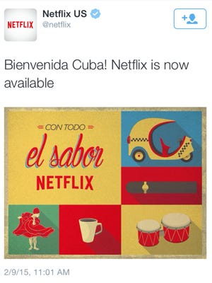 Netflix announces its launch in Cuba.
